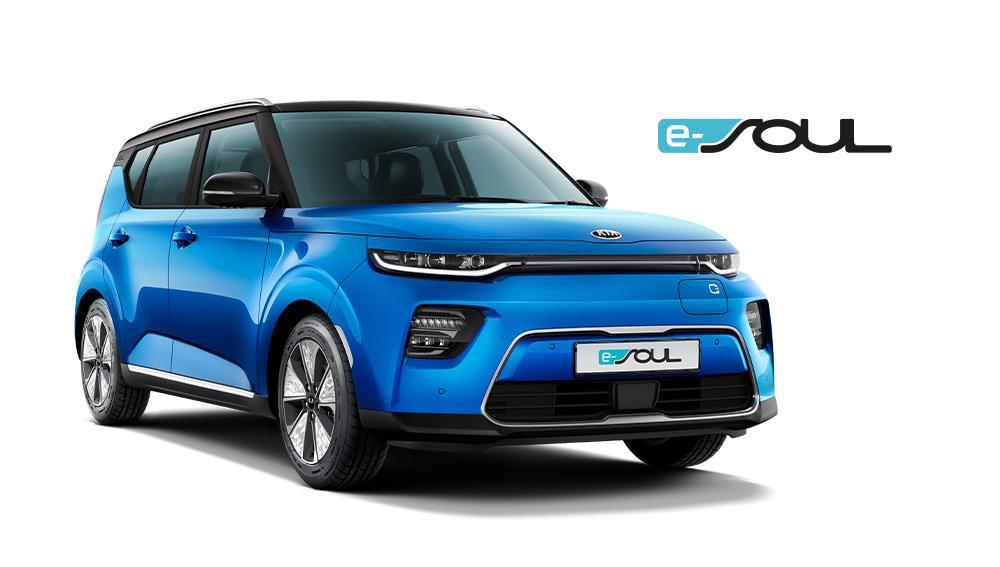 Kia e-soul blå